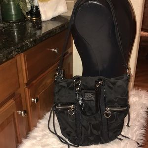Coach poppy black shoulder bag preowned